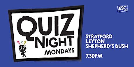 Pub Quiz @ Escape Leyton tickets