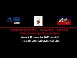 FEMMINICIDIO-CODICE ROSSO. Criticità e strategie di prevenzione biglietti
