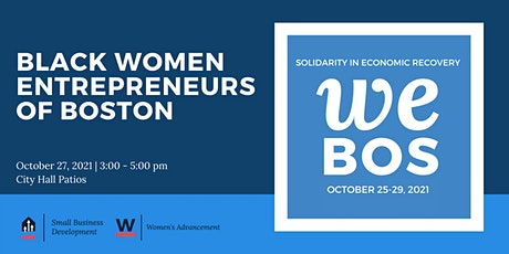 WE BOS Week   Black Women Entrepreneurs of Boston tickets