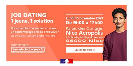 JOB DATING #1jeune1solution - Nice billets