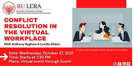 Conflict Resolution in the Virtual Workplace tickets