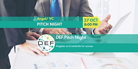 DEF Cornerstones - Pitch Night (Virtual Webinar) tickets