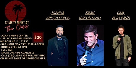 COMEDY NIGHT AT THE OASIS NOVEMBER tickets