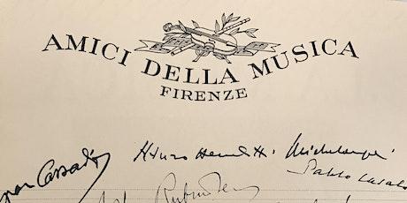 Inaugurazione della mostra per i 100 anni degli Amici della Musica tickets