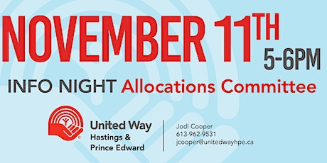 Allocations Committee Information Night tickets