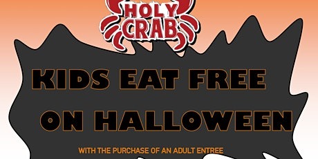 """Kids eat free on Halloween at """"Holy Crab"""" East Peoria tickets"""