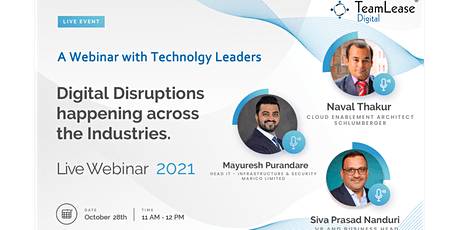 Digital Disruptions happening Across the Industries tickets