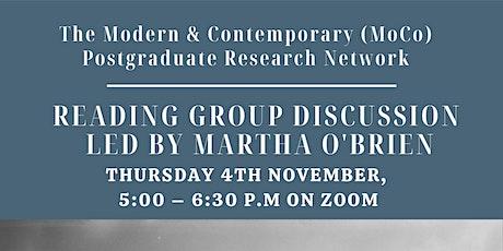 MoCo Reading Group (led by Martha O'Brien) tickets