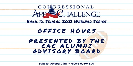 Congressional App Challenge: Office Hours with  the Alumni Advisory Board tickets