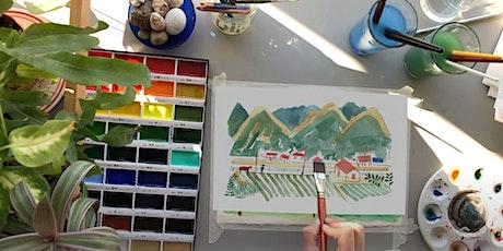 Watercolour Landscapes(online class) tickets