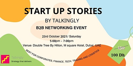 Startup Stories | B2B Networking | By Talkingly tickets