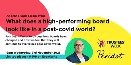 What does a high-performing board look like in a post-covid world? tickets