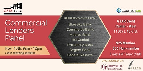Commercial Lender Panel tickets