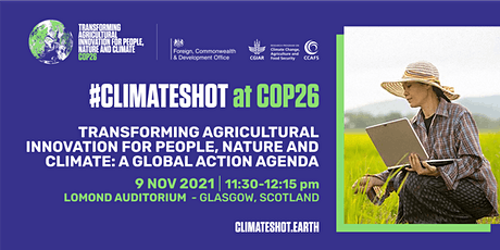 ClimateShot: A Mission to Transform Agriculture tickets