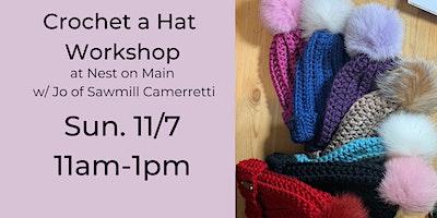 Crochet a Hat Workshop with Jo of Sawmill Camerretti