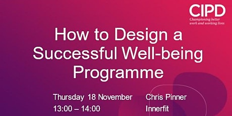 How to Design a Successful Well-being Programme tickets