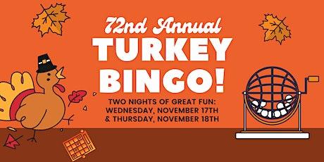 72nd Annual Turkey Bingo! tickets