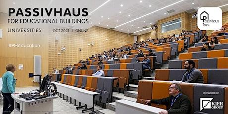 Passivhaus for Educational Buildings: University Procurement tickets