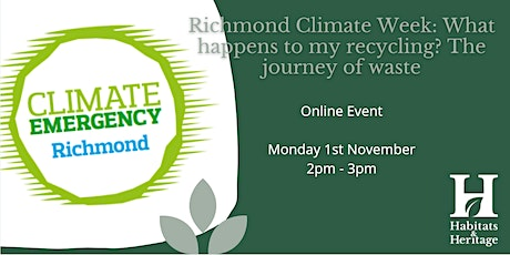 Richmond Climate Week: What happens to my recycling?  The journey of waste tickets