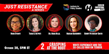 """Grasping at the Root: White Supremacy and the so-called """"War on Terror"""" tickets"""