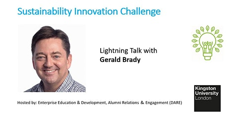 Sustainability Lightning Talk with Gerald Brady-MD, Silicon Valley Bank tickets