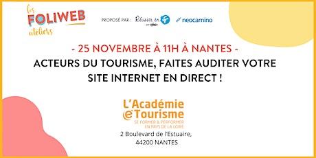 Acteurs du tourisme, faites auditer votre site internet en direct ! billets
