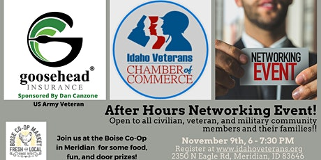 Idaho Veterans Chamber of Commerce - After Hours Networking (Meridian) tickets