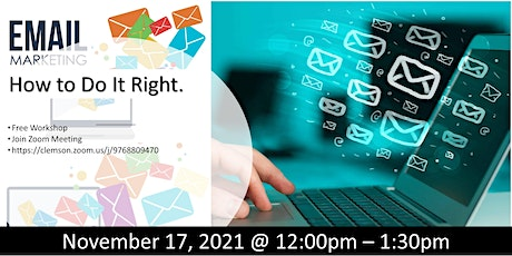 E-MAIL MARKETING -  HOW TO DO IT RIGHT (FREE WORKSHOP) tickets