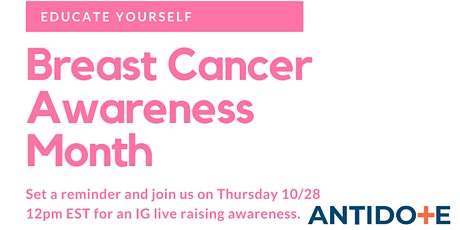Breast Cancer Awareness IG Live tickets
