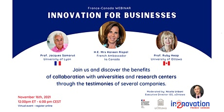 Innovation for Businesses - Between France & Canada tickets