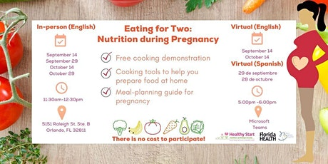 Eating for Two: Nutrition during Pregnancy(Virtual) tickets