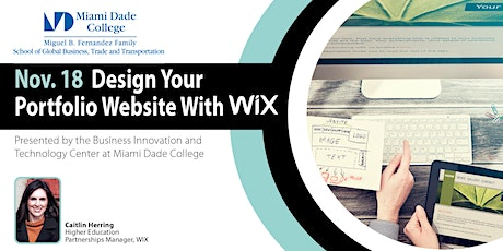 Design Your Portfolio Website with Wix presented by Wix tickets