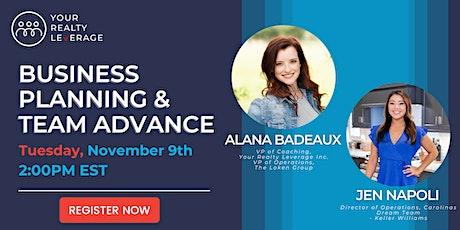 Business Planning & Team Advance tickets