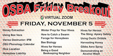 OSBA Friday Breakout Sessions ~ Friday, November 5th at 5:00pm tickets