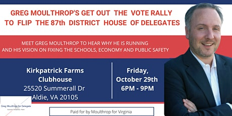 Greg Moulthrop's Get-out-the-Vote Rally tickets