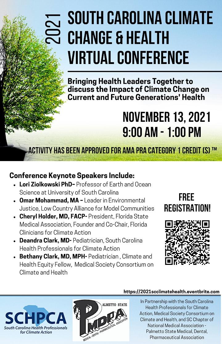 South Carolina Climate Change & Health Virtual Conference image