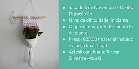 Workshop de Macramé - Suporte de Plantas bilhetes