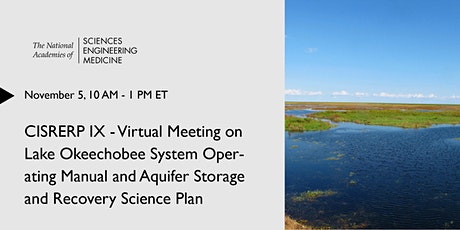 CISRERP IX Meeting on LOSOM and Aquifer Storage and Recovery Science Plan tickets