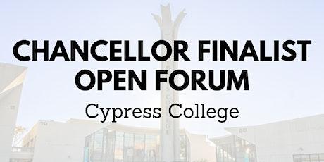 Cypress College - NOCCCD Chancellor Finalist Open Forums tickets