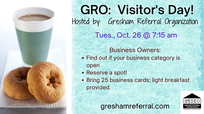 GRO:  Business Networking Visitor's Day! tickets