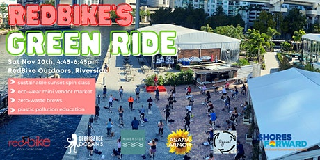 RedBike's Green Ride- Sustainable Sunset Spin Class, Vendor Market + Brews tickets