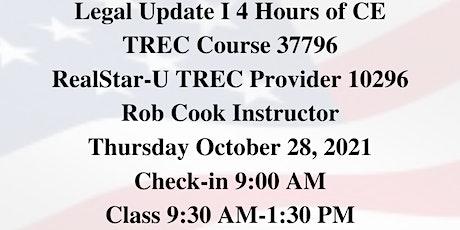 Legal Update I TREC Course 37796 tickets