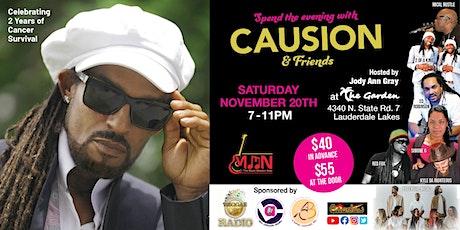 An Evening with  Antigua's Reggae Ambassador - CAUSION & FRIENDS tickets