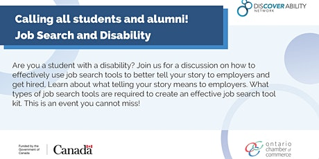 Ryerson University Job search with a disability tickets