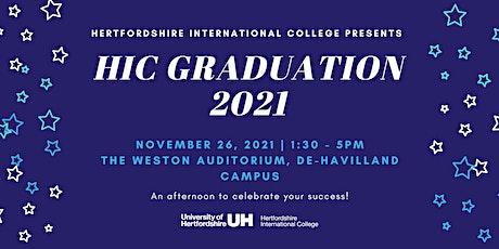 The HIC Graduation tickets