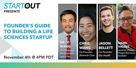 Founder's Guide to Building a Life Sciences Startup tickets