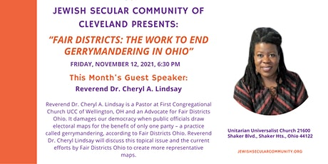 JSC Shabbat- Fair Districts: The Work to End Gerrymandering in Ohio tickets