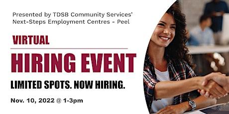 Virtual Hiring Event - Next-Steps Employment Centres Peel tickets