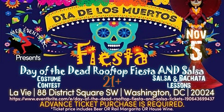 Day of the Dead Rooftop Fiesta AND Salsa tickets