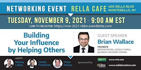 RBBN October Networking Event with Guest Speaker Brian Wallace tickets